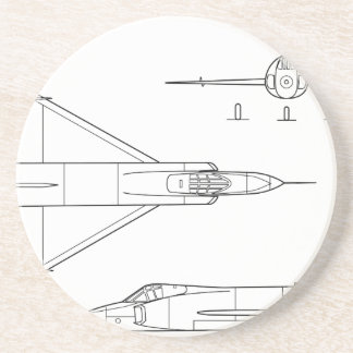 Convair_YF-102_Delta_Dagger_3-view Coaster