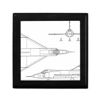 Convair_YF-102_Delta_Dagger_3-view Gift Box
