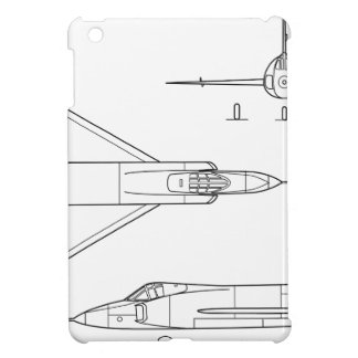 Convair_YF-102_Delta_Dagger_3-view iPad Mini Cover