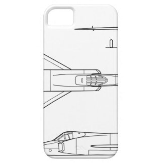 Convair_YF-102_Delta_Dagger_3-view iPhone 5 Case