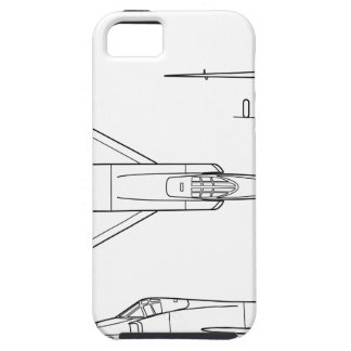 Convair_YF-102_Delta_Dagger_3-view iPhone 5 Cover