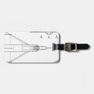 Convair_YF-102_Delta_Dagger_3-view Luggage Tag