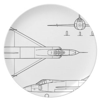 Convair_YF-102_Delta_Dagger_3-view Plate