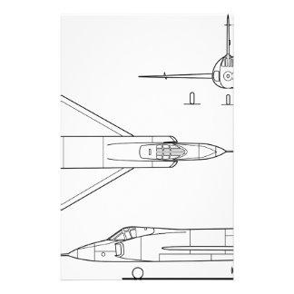 Convair_YF-102_Delta_Dagger_3-view Stationery