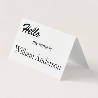 Convention Conference Name Card