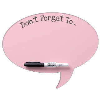 Conversation Bubble Pink Dry Erase Board