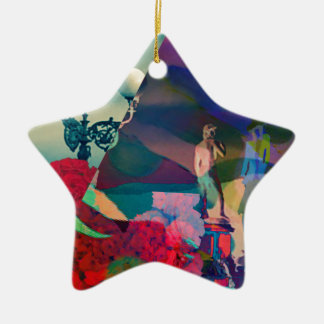 Conversation from the past ceramic star ornament