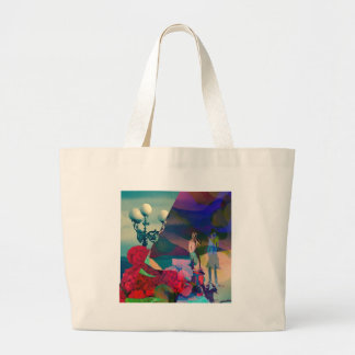 Conversation from the past large tote bag