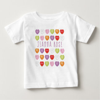 Conversation Hearts Personalized Baby T Shirt