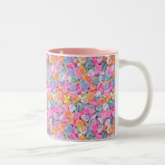 Conversation Hearts Two-Tone Coffee Mug