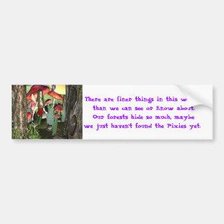 Conversation with lady bug car bumper sticker