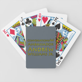 Conversations w/Ambassador Andrew Williams Jr. Bicycle Playing Cards