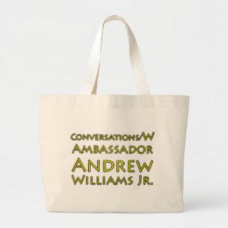 Conversations w/Ambassador Andrew Williams Jr. Large Tote Bag