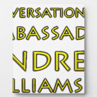 Conversations w/Ambassador Andrew Williams Jr. Plaque