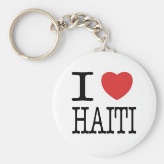 Conversations with the Living: I <3 Haiti Key Basic Round Button Keychain