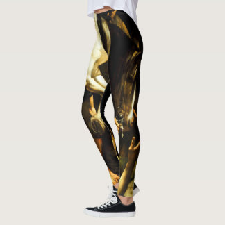 Conversion on the Way to Damascus by Caravaggio Leggings