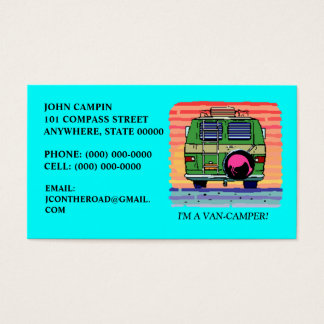 CONVERSION VAN CAMPING ~ BUSINESS CARDS! BUSINESS CARD
