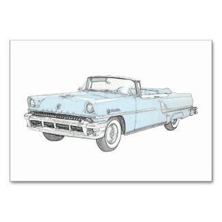 Convertible 1955 Mercury Montclair Rendering Card