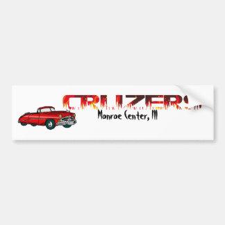 Convertible and Flames Bumper Sticker