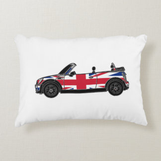 Convertible with Union Jack Decorative Pillow