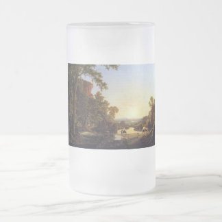 Convoy pass through wilderness frosted glass beer mug