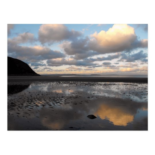 Conwy Beach Reflections Postcard