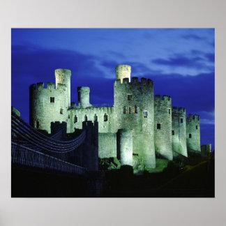 Conwy Castle, Gwynedd, Wales Poster