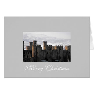 Conwy Castle in Snow Card