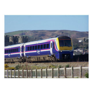 Conwy train poster