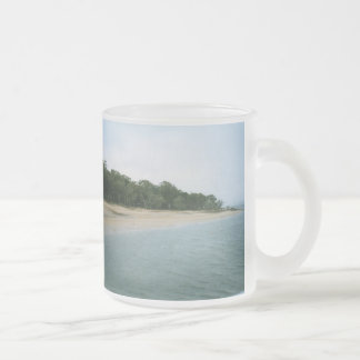 Coochiemudlo 10 Oz Frosted Glass Coffee Mug