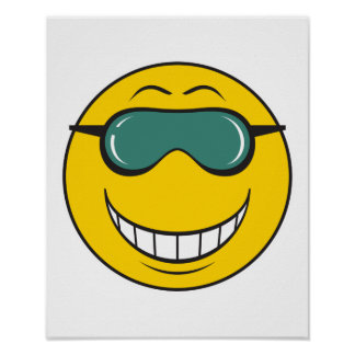 Cood Dude Smiley Face Poster
