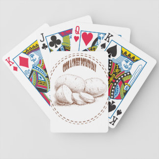 Cook a Sweet Potato Day - Appreciation Day Bicycle Playing Cards
