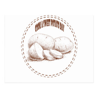 Cook a Sweet Potato Day - Appreciation Day Postcard