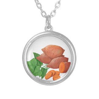 Cook a Sweet Potato Day - Appreciation Day Silver Plated Necklace