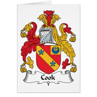 Cook Family Crest Card