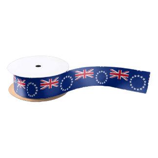 Cook Islander flag ribbon Satin Ribbon