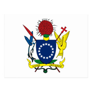 Cook Islands Coat of Arms Postcard