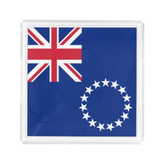 Cook Islands Flag Acrylic Tray