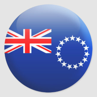 Cook Islands Flag Classic Round Sticker