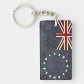 Cook Islands Flag Key Chain Souvenir