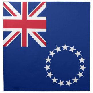 Cook Islands Flag Napkin