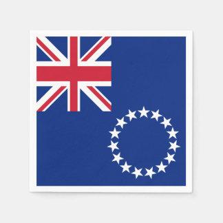Cook Islands Flag Paper Napkin