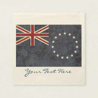 Cook Islands Flag Party Napkins Paper Napkins
