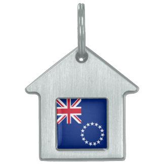 Cook Islands Flag Pet ID Tag