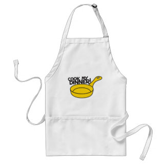cook my dinner! with saucepan frying pan standard apron