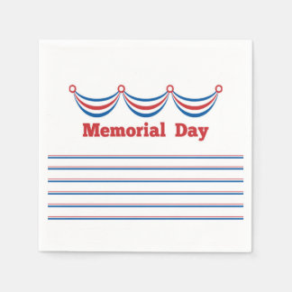 Cook Out Memorial Day Party Paper Napkins