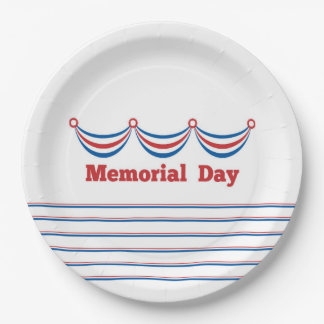 Cook Out Memorial Day Party Paper Plates 9 Inch Paper Plate