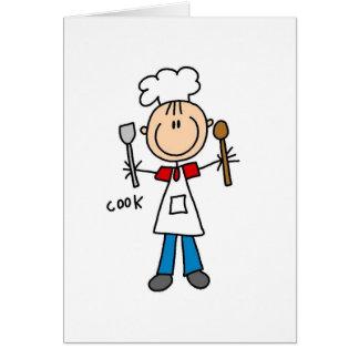 Cook Stick Figure Card