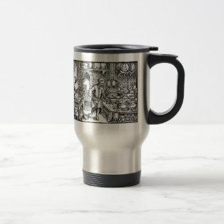 cook woodcut stainless steel travel mug