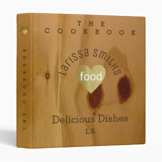 cookbook / delicious dishes, love food, faux wood binders